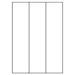 Etikety PRINT A4/100 ks, 70x297 - 3 etikety, biele