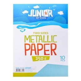 Dekoračný papier A4 Metallic modrý 250 g, sada 10 ks