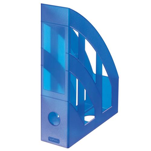 Stojan na časopisy - Classic modrý - transparent.