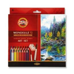 Pastelky KOH-I-NOOR Mondeluz, akvarelové, sada 72 ks