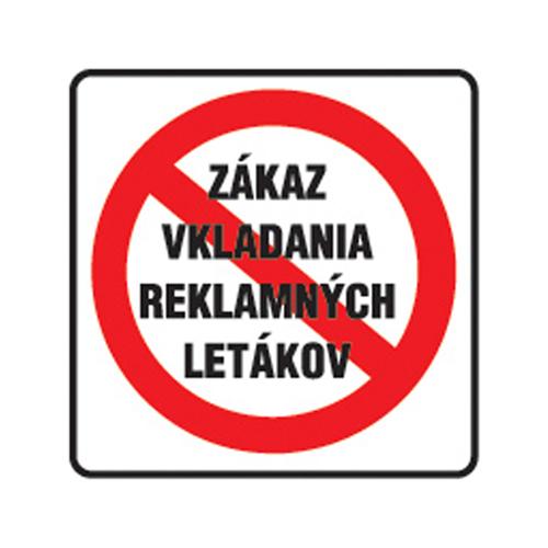 Etikety Info - Zákaz vkladania reklamy 85x85 mm