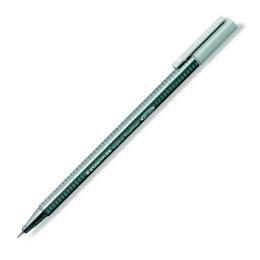 """Liner, 0,3 mm, STAEDTLER """"Triplus"""", strieborno sivý"""