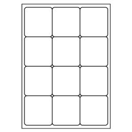 Etikety PRINT A4/100 ks, 66x70 - 12 etikiet, biele