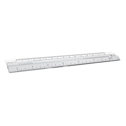 Pravítko 15 cm, transparentné MILAN
