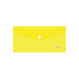 Obal s patentkou PP/DL, priehľadný/žltý
