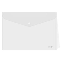 Obal s patentkou - rozšíriteľný PP/A4, priehľadný/transparentný