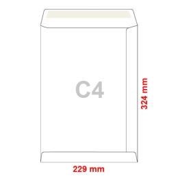 Obálky C4 229x324 mm tašky ofset samolepiace, 250 ks