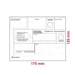 Obálky B6 DVR 125 x 175 mm opakované doručenie 25 ks
