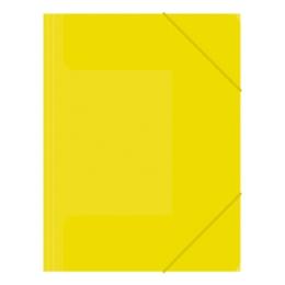 Zakladacia mapa 3-chlopňová, s gumou, žltá