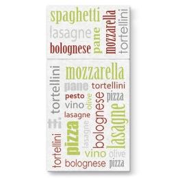 Vrecká na príbory PAW AIRLAID 40x40cm Italian Food Green