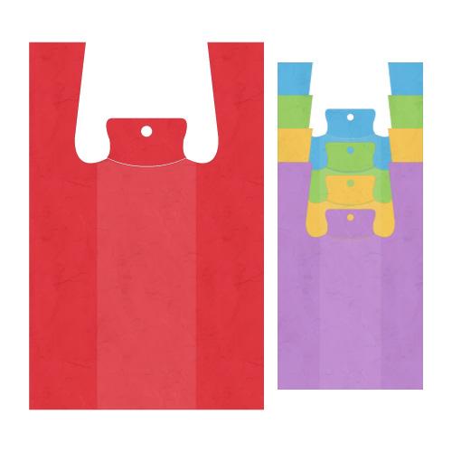 Tašky HDPE 4 kg košieľkové 47 x 23 x 11 cm, bal. 200 ks mix farieb