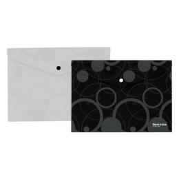 Obal PP s patentkou A4, čierny (Black&White)