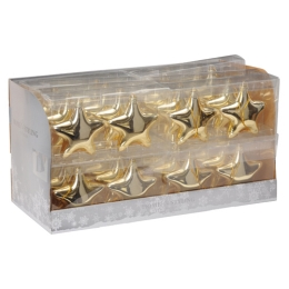 Vianočné ozdoby - PP zlaté hviezdy 10 cm, set 2ks