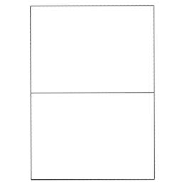 Etikety PRINT A4/100 ks, 210x148,5 - 2 etikety, biele
