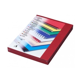Kartónové dosky DELTA A4 tmavo červené