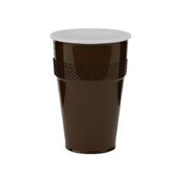Automatový pohár hnedo-biely  0,18 l, 100 ks