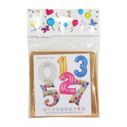 """Balón narodeninový 100 cm farebný v tvare čísla """"9"""""""