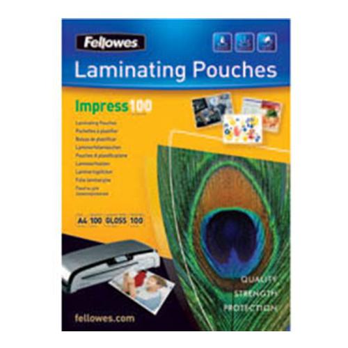 Laminovacie fólie FELLOWES A4 lesklé  216 x 303 mm,100 mic / bal. 100 ks