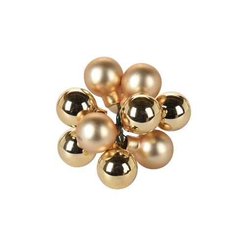 Vianočné gule - sklenené, zlaté 20 mm, set 10ks