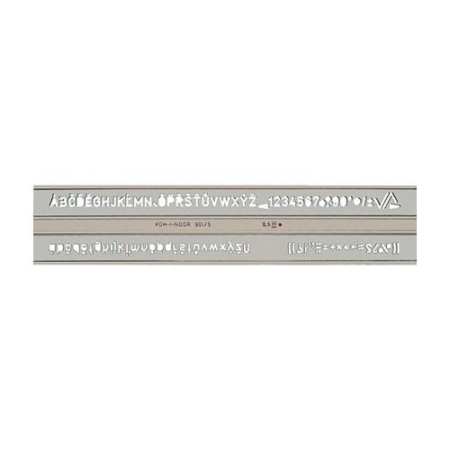 Šablóna KOH-I-NOOR písmenková, ISO 5 mm
