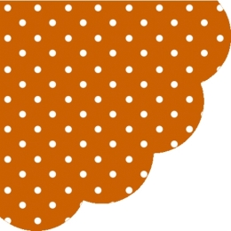 Obrúsky PAW R 32 cm Dots Terracotta