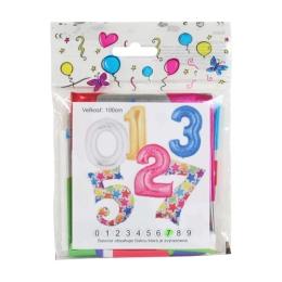 """Balón narodeninový 100 cm hviezdy v tvare čísla """"9"""""""