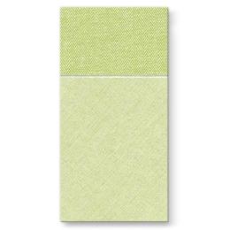 Vrecká na príbory PAW AIRLAID 40x40cm Bamberg Green, 25 ks/bal