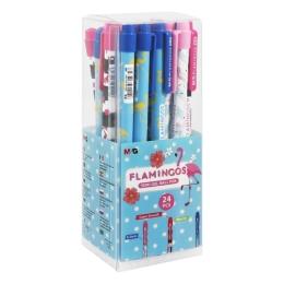 Pero guľôčkové M&G Flamingos Semi-Gel 0,5 mm, modré