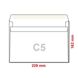 Obálky C5 162x229 mm samolepiace, 1000 ks