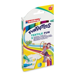 Sada popisovačov Edding Funtastics 17/5 S Textile Fun