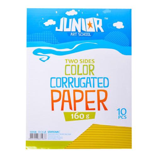 Dekoračný papier A4 vlnkový žltý 160 g, sada 10 ks