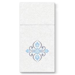 Vrecká na príbory PAW AIRLAID 40x40cm Diamonds Composition Light Blue