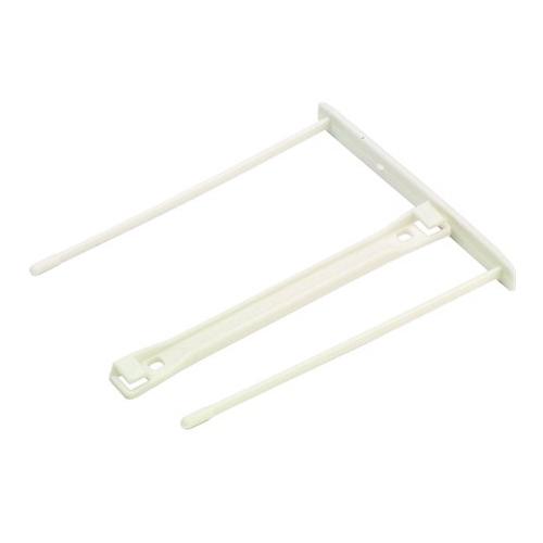 Archívna spona, plastová, biela, 85 mm, FELLOWES