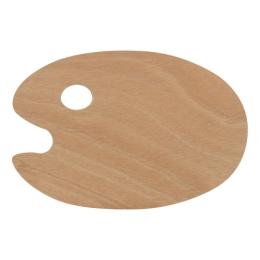 Paletka pre výtvarníkov - drevená 29x20 cm