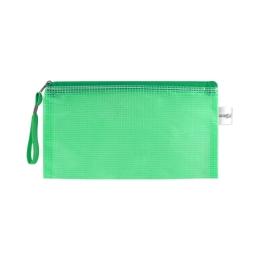 Sieťovaná obálka so zipsom PVC/DL, zelená