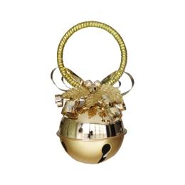 Dekorácia závesná - zlatá rolnička 10 cm, 1ks