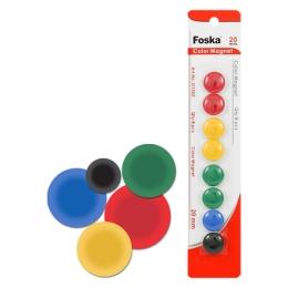 Magnetky - farebné, 20 mm/8 ks