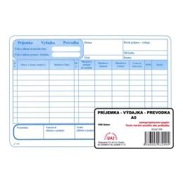 Príjemka - výdajka - prevodka A5, samoprepis (299)