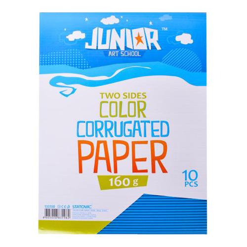 Dekoračný papier A4 vlnkový modrý 160 g, sada 10 ks