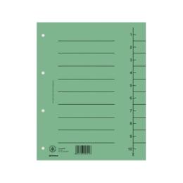 Rozraďovač kartónový A4 zelený
