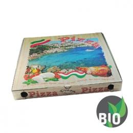 Krabica na pizzu z vlnitej lepenky 46 x 46 x 5 cm, 100 ks