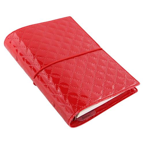 Diár Filofax Domino Luxe - červený, A5
