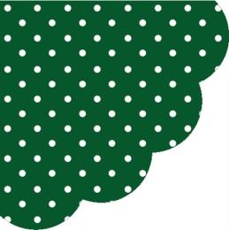 Obrúsky PAW R 32 cm Dots Dark Green