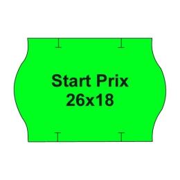 Etikety cen. PRIX 26x18 oblé - 1000 etikiet/kotúčik, zelené