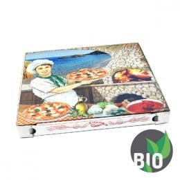 Krabica na pizzu z vlnitej lepenky 40 x 40 x 3 cm, 100 ks