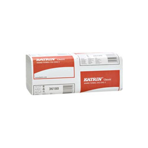 Papierové utierky ZZ Katrin, 2-vrstvové 230x232 mm, biele 3000 ks