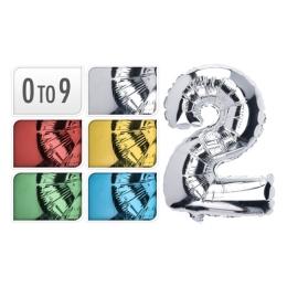 """Balón narodeninový 35 cm, číslo """"9"""", mix farieb, 1ks"""