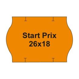 Etikety cen. PRIX 26x18 oblé - 1000 etikiet/kotúčik, oranžové