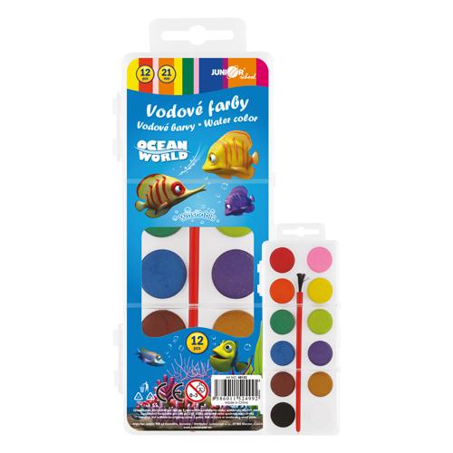 Farby vodové Ocean World - 12 farieb/21 mm