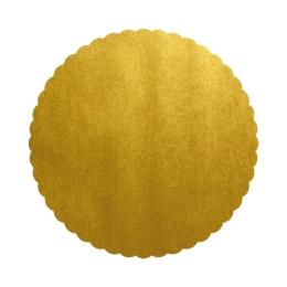 Podložky lepenkové 26 cm - zlaté, 50 ks